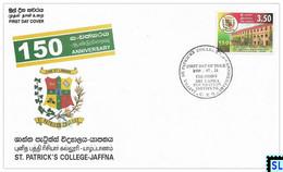 Sri Lanka Stamps 2000, St. Patrick's College, Jaffna, FDC - Sri Lanka (Ceylon) (1948-...)