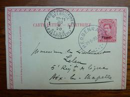 1930 Carte Postale  Entier Postal 10c  EUPEN  Cachet  HERGENRATH Et Postes Militaires   PERFECT - Cartoline [1909-34]