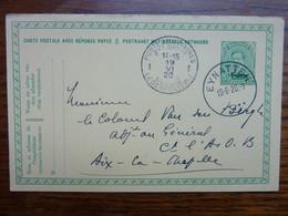 1920 Carte Postale  Entier Postal 10c  EUPEN  Cachet  EYNATTEN Et Postes Militaires   PERFECT - Cartoline [1909-34]