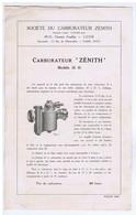 "RHÔNE - LYON - Carburateur "" ZENITH "" - Advertising"