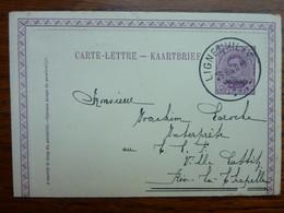 1920 Carte-lettre  Entier Postal 25c  MALMEDY  Cachet  LIGNEUVILLE    PERFECT - Carte-Lettere