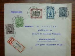 1921  Lettre MALMEDY  Cachet BULLINGEN   5 Stamps   PERFECT - Storia Postale