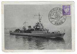 32 SM - SALON DE LA MARINE 1944 - AVISO-DRAGUEUR COMMANDANT BORY  - Cachet à Date 11 Juin 1944 - Posta Marittima