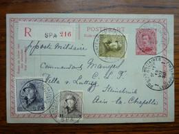 1920  Postkaart  Cachet Conférence Diplomatique  3 Timbres Sur Entier Postal 10c    PERFECT - Storia Postale