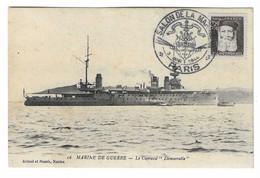 35 SM - SALON DE LA MARINE 1944 - CUIRASSÉ DÉMOCRATIE - Cachet à Date 3 Juin 1944 - Posta Marittima