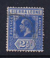 Sierra Leone: 1912/21   KGV     SG116     2½d  Deep Blue   Used - Sierra Leona (...-1960)