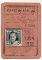 TUNISIE - Compagnie Des Tramways De Tunis - Carte De Famille - 1953 à 1955 - Other