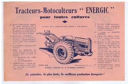 """RHÔNE - VILLEFRANCHE-sur-SAÔNE - Etablissements PATISSIER - Tracteurs - Motoculteurs """" ENERGIC """" - Publicités"""