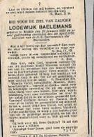 20 08 AL/9A/   ° WEELDE 1926 + 1939   LODEWIJK BAELEMANS - Religione & Esoterismo