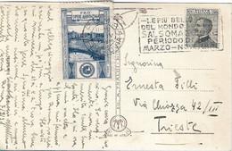 REGNO - CARTOLINA POSTALE CON ERINNOFILO PRO OPERE ASSISTENZIALI ANNULLATO 1928 -  S33 - Erinnofilia
