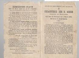 20 08 AL/1A/  MERCHTEM  GEDACHTENIS DER H. MISSIE   1892 !! - Religion & Esotericism