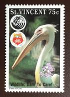 St Vincent 1992 Care Bears Ecology Birds MNH - Unclassified