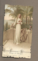 IMAGE PIEUSE.. édit. Bouasse Lebel N 5484.. SAINTE CATHERINE D'ALEXANDRIE. Vierge Et Martyre - Devotieprenten