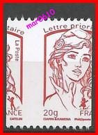 2013 - Marianne De Ciappa-Kawena - Y&T N° 4779 A C - Piquage à Cheval Vertical - Sans Numéro Au Dos - Neuf** - 2013-... Marianne Of Ciappa-Kawena