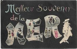Belgische Kust   *   Meilleur Souvenir De La Mer  (verstuurd Blankenberghe 1906) Baigneuses - Blankenberge
