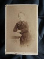 Photo CDV Gustave Au Mans  Petit Garçon  Lavalière à Pois  CA 1880 - L560 - Oud (voor 1900)