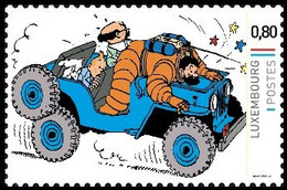 Timbre Privé** - Kuifje / Tintin - Milou / Bobbie - Haddock - Jeep CJ 2a, Datant De 1946 - On A Marché Sur La Lune - Bandes Dessinées