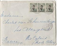 Enveloppe Postée En 1920 Avec 3 Tp Indo-Chine à 5c Et Cachet Cochinchine - Briefe U. Dokumente