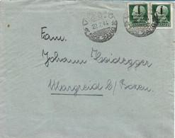 RSI - DA VIPITENO PER MAGRE' (TRENTO) CON COPPIA 25c SOVRASTAMPA FASCIO 22.07.1944 - S0 - Marcofilie