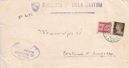 RSI - DA VILLA SANTINA A CORTINA D'AMPEZZO GIUGNO 1944 CON AFFRANCATUTA DI EMERGENZA SU AMPIO FRONTESPIZIO - Marcofilie