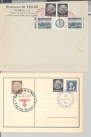 Dt. Bes. 2. WK Sudetenland, 2 Interessante Belege Als Posten (38721) - Occupation 1938-45