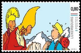 Timbre Privé** - Kuifje / Tintin / Tim - Milou / Bobbie - Haddock - Tintin Au / Kuifje In / Tim In / Tintin In - Tibet - Bandes Dessinées
