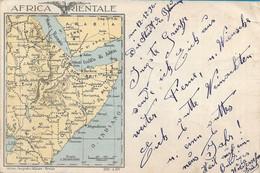 CARTOLINA IN FRANCHIGIA AFRICA ORIENTALE POSTA MILITARE 130E DA ALPINO 144 COMPAGNIA BTG. TRENTO - 1937 -  M140 - Oorlog 1939-45