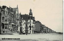 La Panne La Digue Côté Est Circulée En 1909 - De Panne