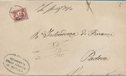 REGNO - FRANCOBOLLO DI SERVIZIO SASSONE 5  DA ROVIGO A PADOVA  CON TESTO INTERNO 17.10.1875 -  S0 - Marcofilie