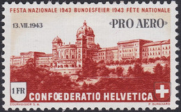 SUISSE, 1943, Traversée Des Alpes (Yvert 35) - Nuevos