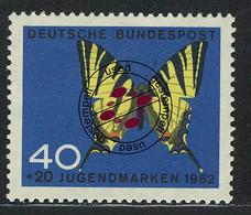 379 Jugend Schmetterlinge 40+20 Pf Segelfalter O - Ohne Zuordnung