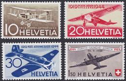 SUISSE, 1944, Avions Divers (Yvert 36 Au 39)) - Nuevos