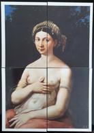La Fornarina Di Raffaello PUZZLE Lot De 4 Carte Postale - Advertising