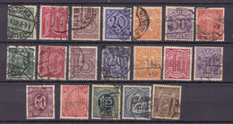 Germany - Reich 1921/1923 - 1920 Year _ Michel Dienst 16/22+23/33 - Used - 60 Euro - Officials