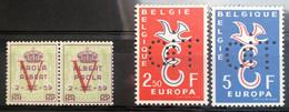 België, 1959, Nr. PR131/34, Postfris **, OBP 10€ - Privatpost
