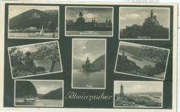 Koblenz 1934; Mehrbildkarte Rheizauber - Gelaufen. (Fritz Wagner - Heimbach) - Koblenz