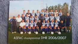 CPM FRONTIGAN ASFAC CHAMPIONNAT DHR 2006 2007 EQUIPE PREMIER  POUR LA BOURSE DES COLLECTIONNEURS - Soccer