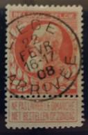 Belgique  Oblitération Liege Arrivee  Sur COB N°74 - 1905 Thick Beard