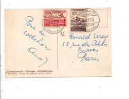 BELGIQUE AFFRANCHISSEMENT COMPOSE SUR CARTE CHAMPIONNATS D'EUROPE D'ATHLISTISME AU HEYSEL 1950 - Covers & Documents