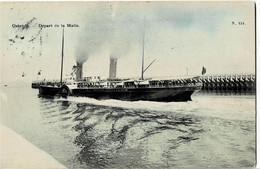 Ostende Départ De La Malle Colorée Et Circulée En 1906 - Oostende