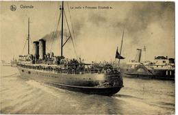 "Ostende La Malle "" Princesse Elisabeth "" Circulée En 1923 - Oostende"