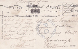 2402      85 Engeland, Roker / Sunderland, Card To Prisonner Of War To Holland With ''Post Free P.D. Prisoner - Zonder Classificatie