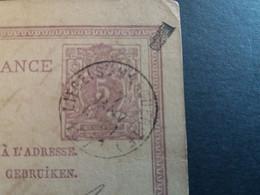 Belgique  Oblitération Liege Ste Marguerite Sur EP N°6 - Postcards [1871-09]