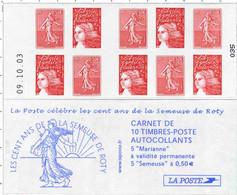 BC 1511 (2003) Carnet Neuf Semeuses De Roty 010 - Freimarke