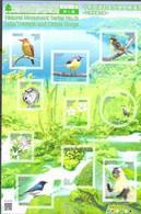 JAPAN, 2021, MNH, LAKE TOWADA AND OIRASE GORGE, BIRDS, FLOWERS, SHEETLET - Altri
