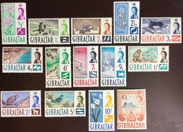 Gibraltar 1960-62 Definitives Set Birds Flowers Animals MNH - Gibilterra