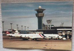 Avion  Aéroport Orly Sud 1992 Tour De Contrôle Avion Air Liberté MD83 F-GHEB - Aerodromi