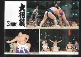 Cpm St005463 Sumo 3 Vues Sur Carte Postée D'hiroshima - Hiroshima
