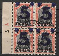 Danzig, 4er Block Mit Wert Der Überdruck-Ausgabe Vom 10. August 1920 - Danzig