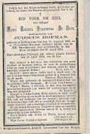 20 08 AL/2//   ESTINNES AU VAL 1803 + ST LAUREYS BERCHEM 1884   MARIA DE  GENS - Religion & Esotericism